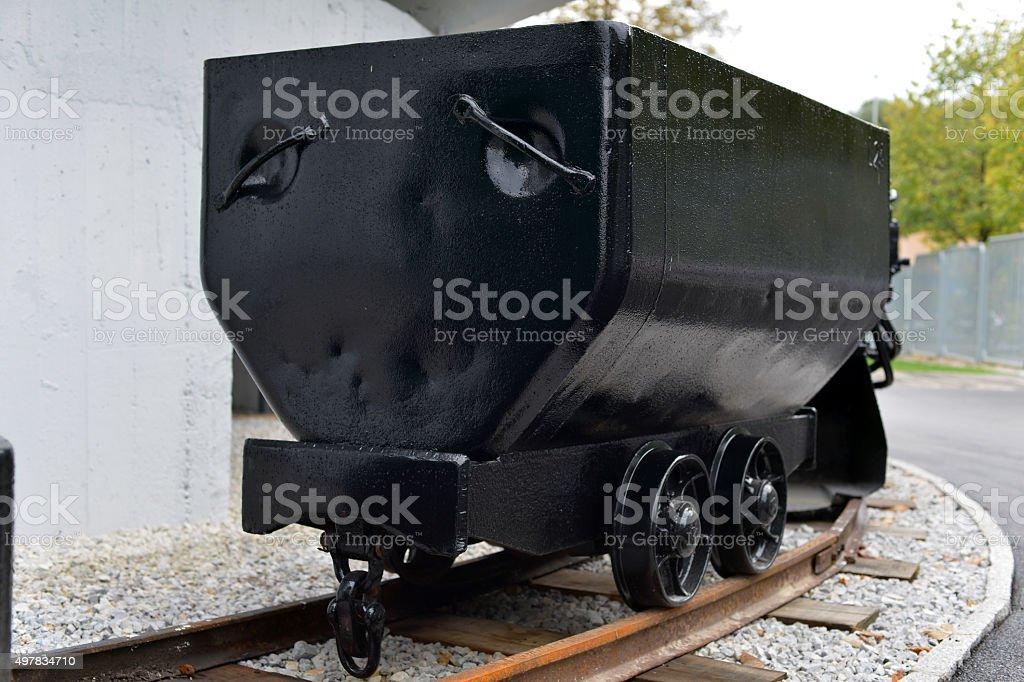 Small mine train stock photo
