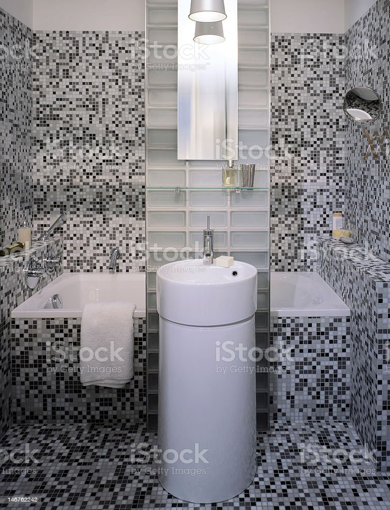 small modern bathroom royalty-free stock photo