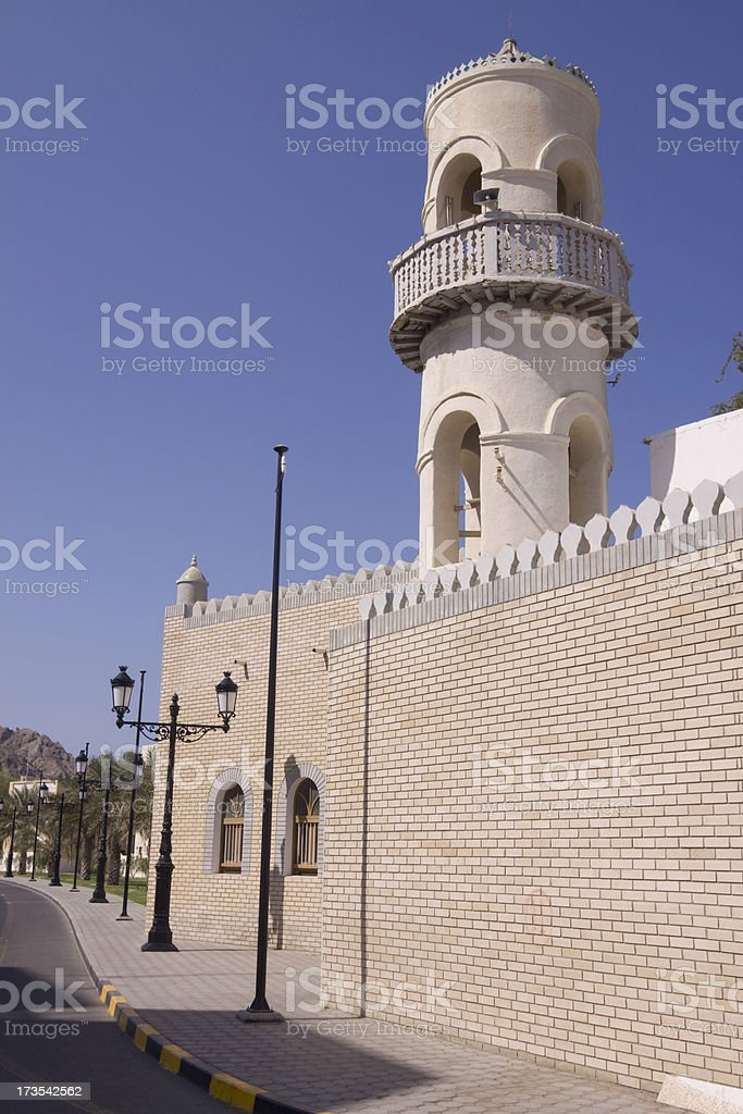 Small mosque in old Muscat royalty-free stock photo