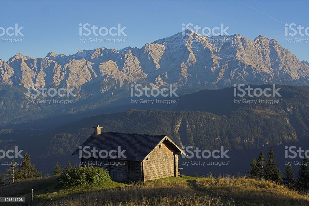 Small mountain house royalty-free stock photo