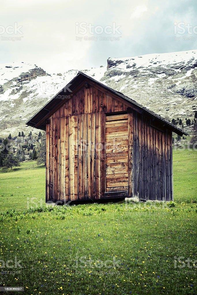 Small mountain hut royalty-free stock photo