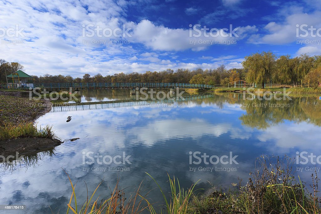 Small mountain lake in beautiful mountains royalty-free stock photo