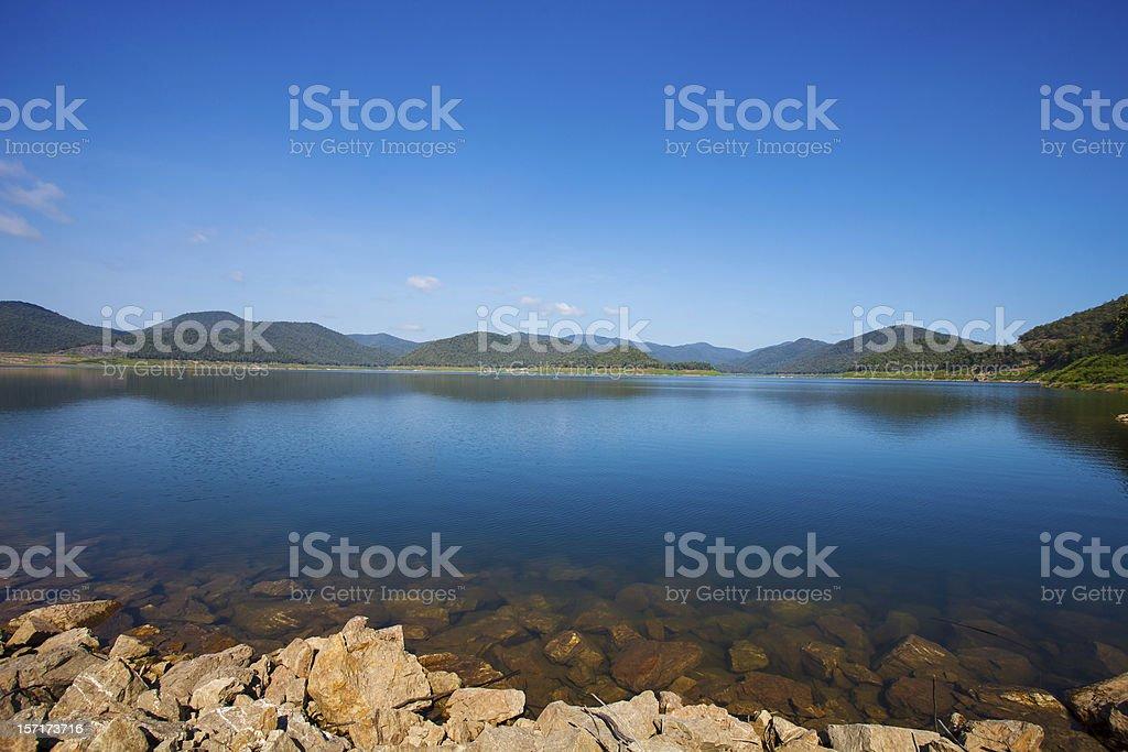 small mountain lake royalty-free stock photo