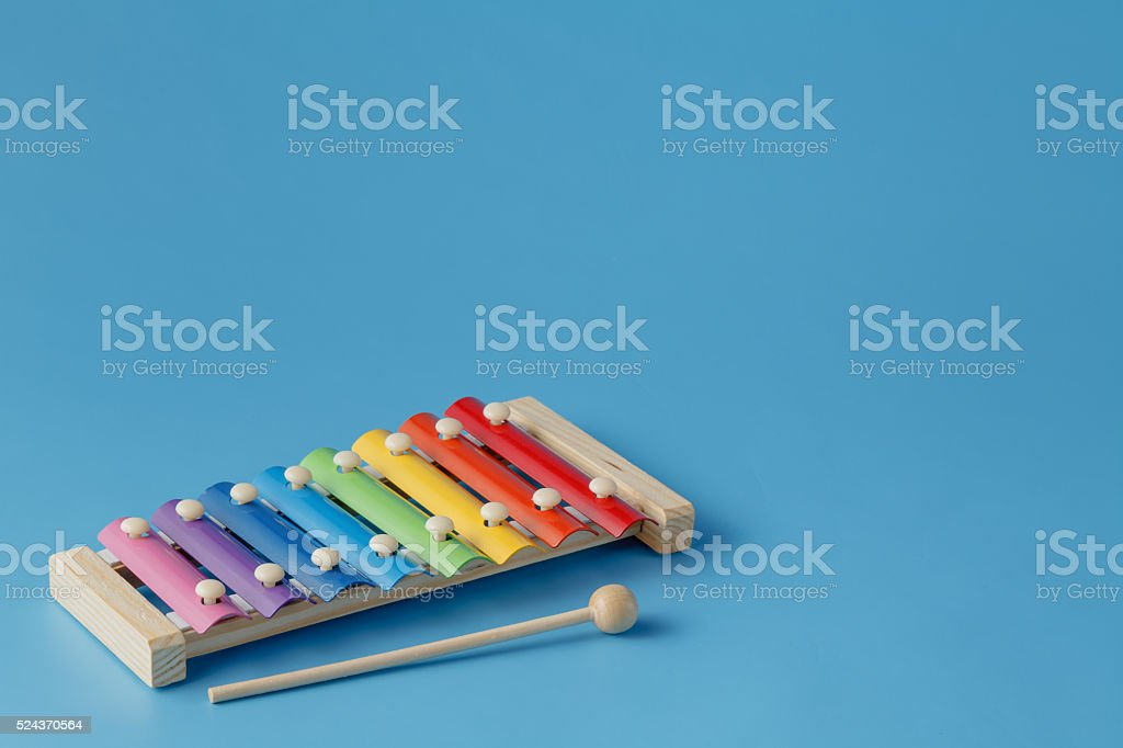 small music xylophone baby percussion instrument stock photo