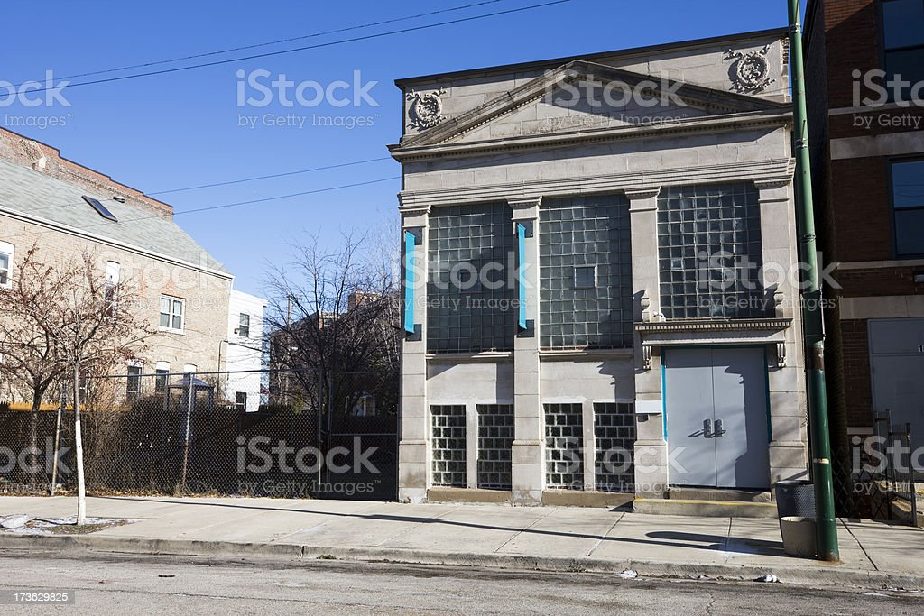 Small Neoclassical Chicago Building royalty-free stock photo