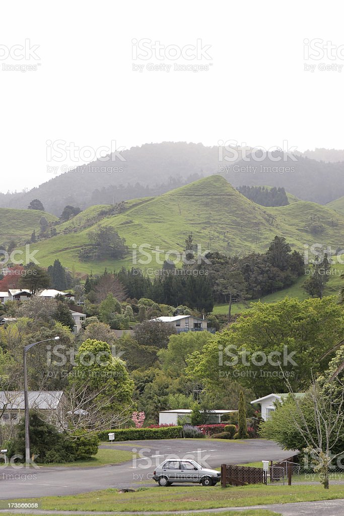 Small New Zealand Town royalty-free stock photo