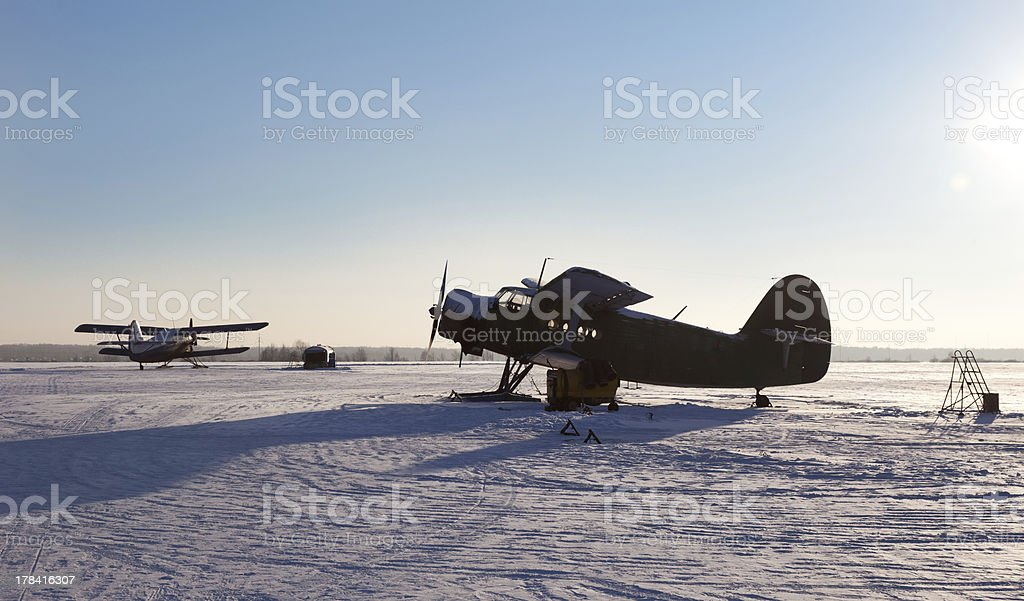 Small north airfield stock photo