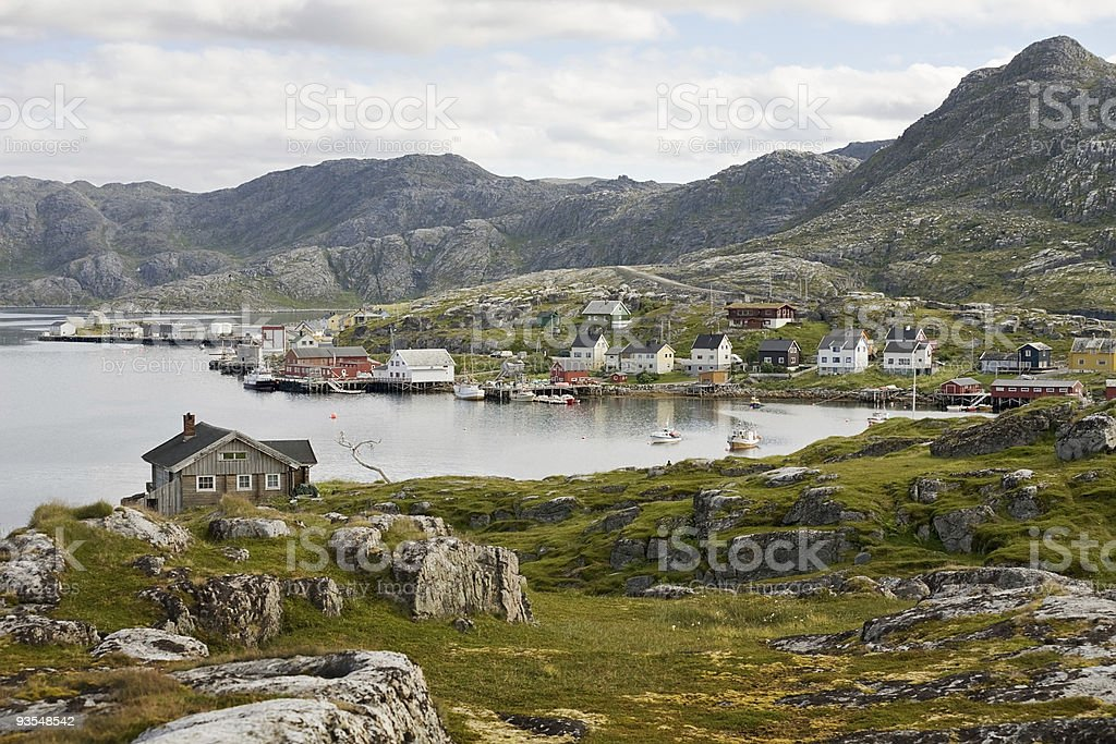 small norwegian village royalty-free stock photo
