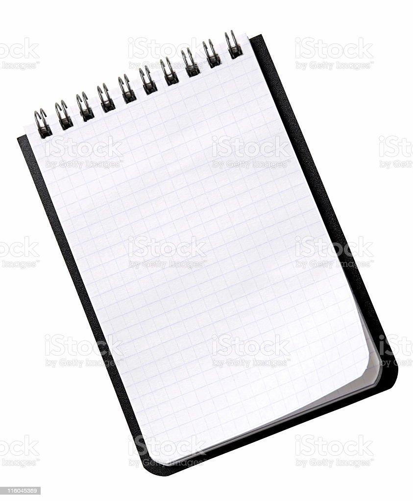 Small Notebook On A White Background royalty-free stock photo