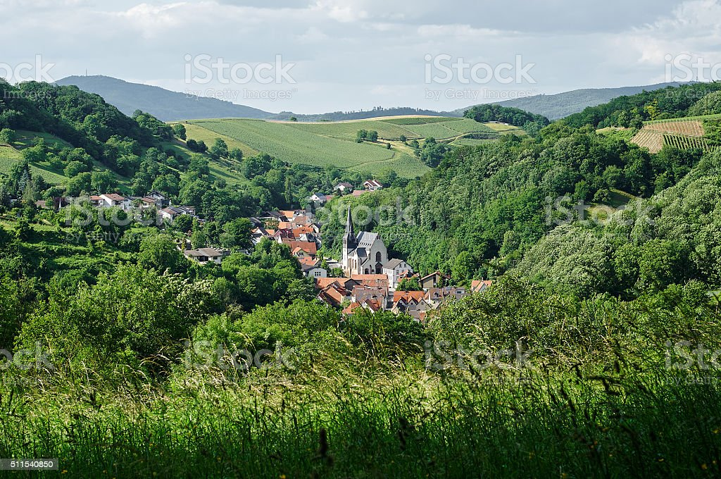 Small Odenwald village in Germany stock photo