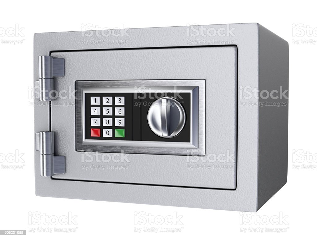Small office and home digital safe. stock photo
