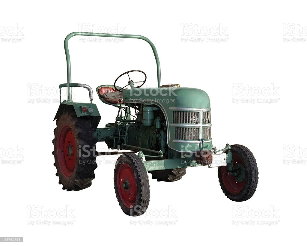 small old tractor royalty-free stock photo