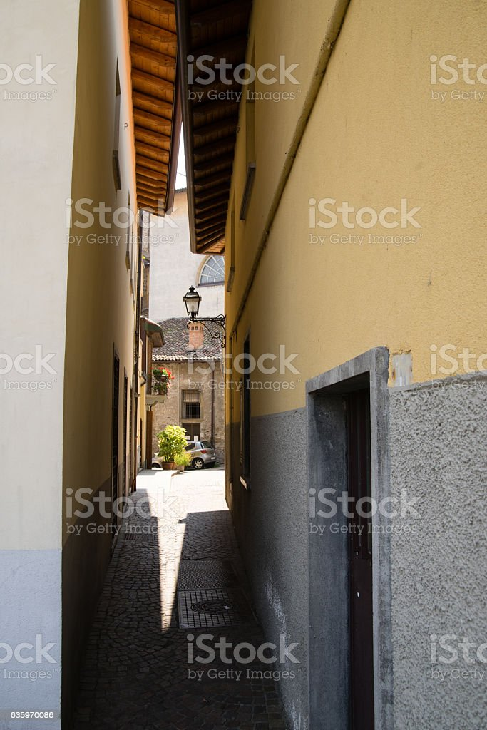 Small old village stock photo