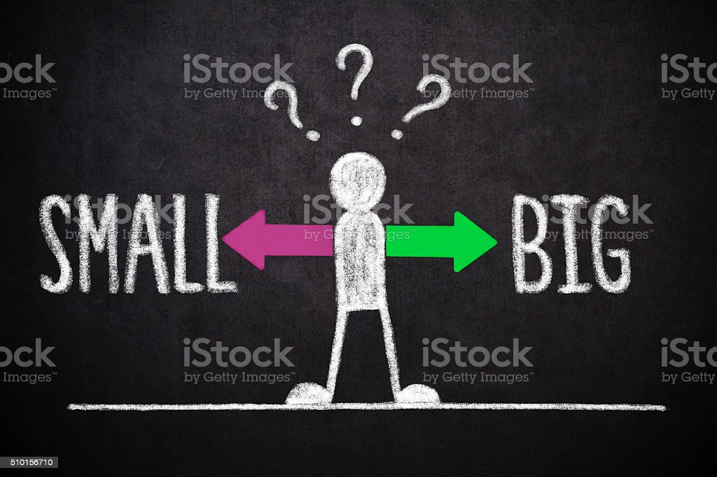 Small or Big ? stock photo