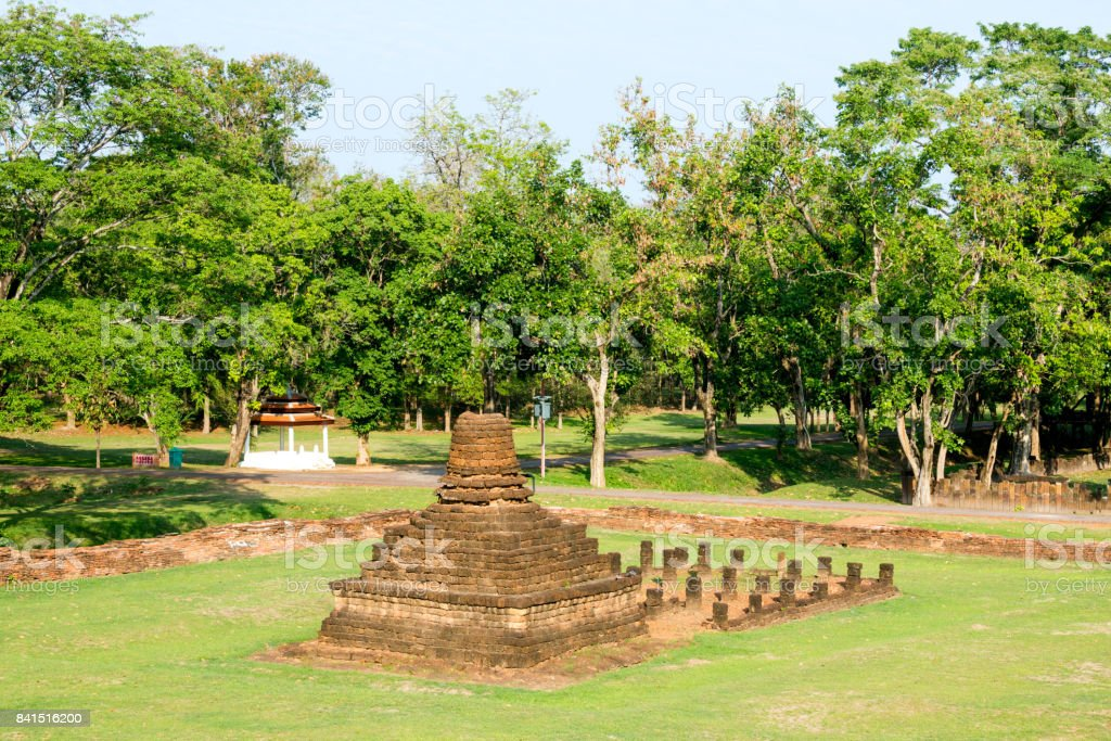 Small pagoda at Sukhothai, Thailand stock photo