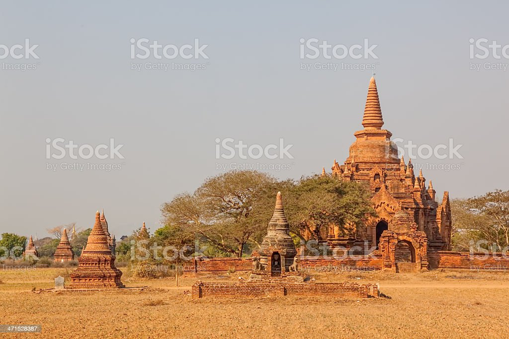 Small pagodas in Bagan royalty-free stock photo