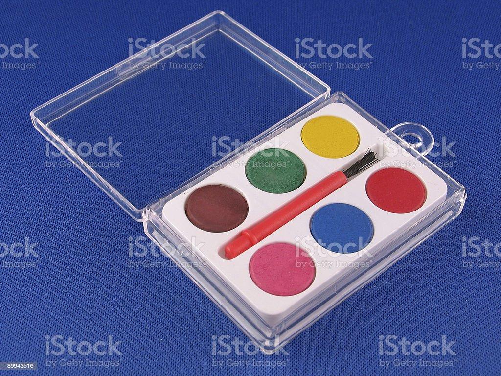 Small Paint Set royalty-free stock photo