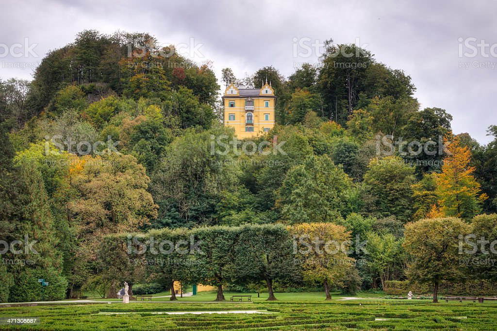 Small Palace in Europe stock photo