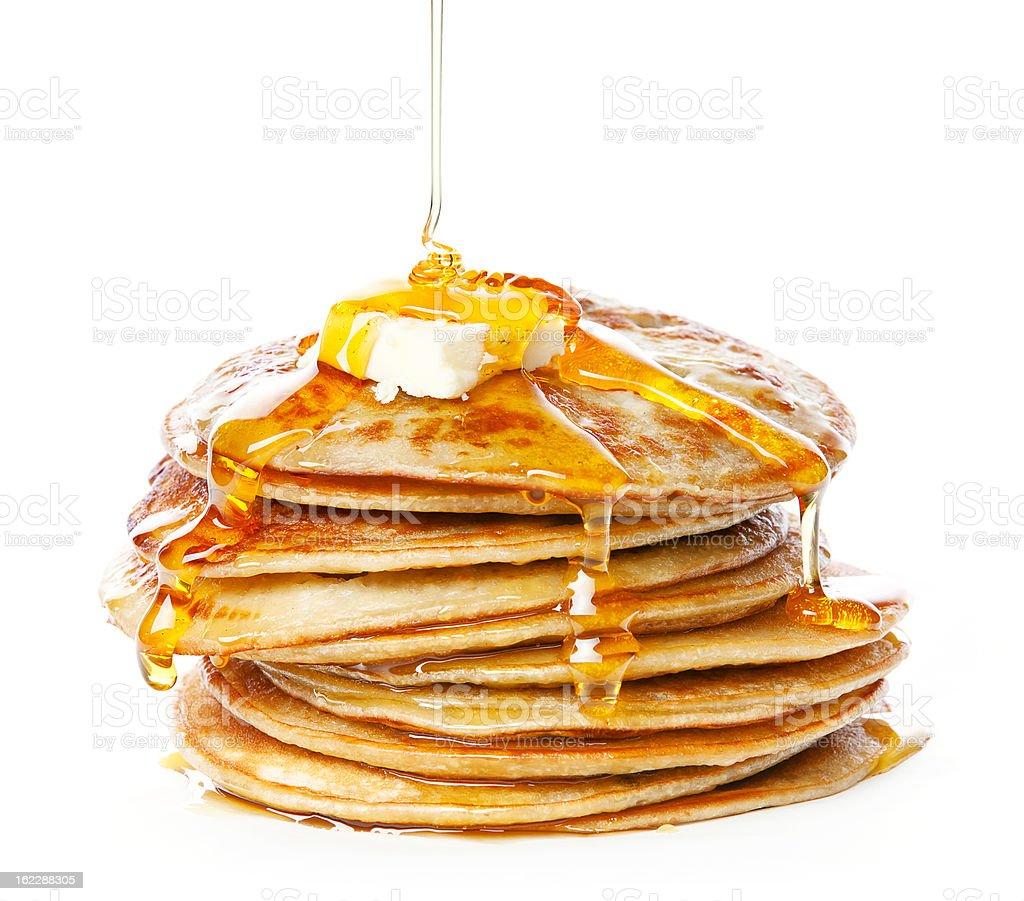 Small pancakes stock photo