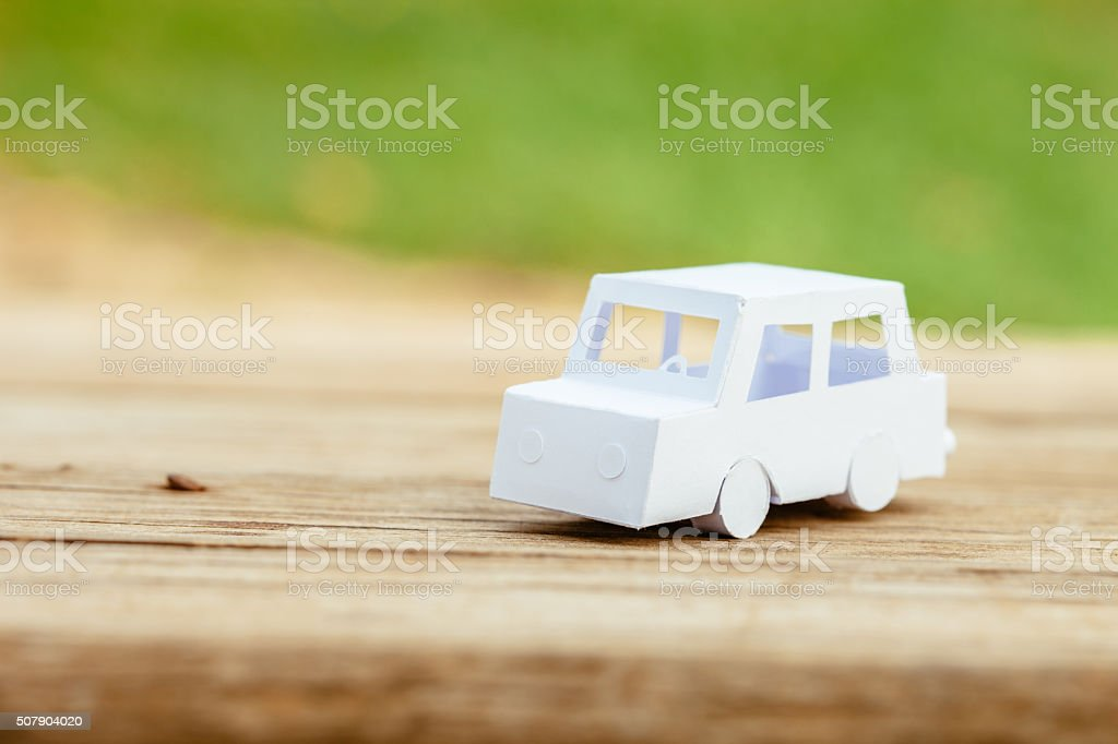Small paper car stock photo