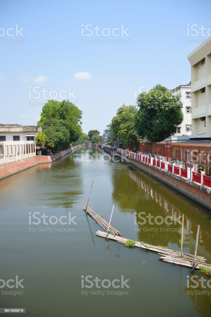 Small peaceful canal in bangkok Thailand stock photo