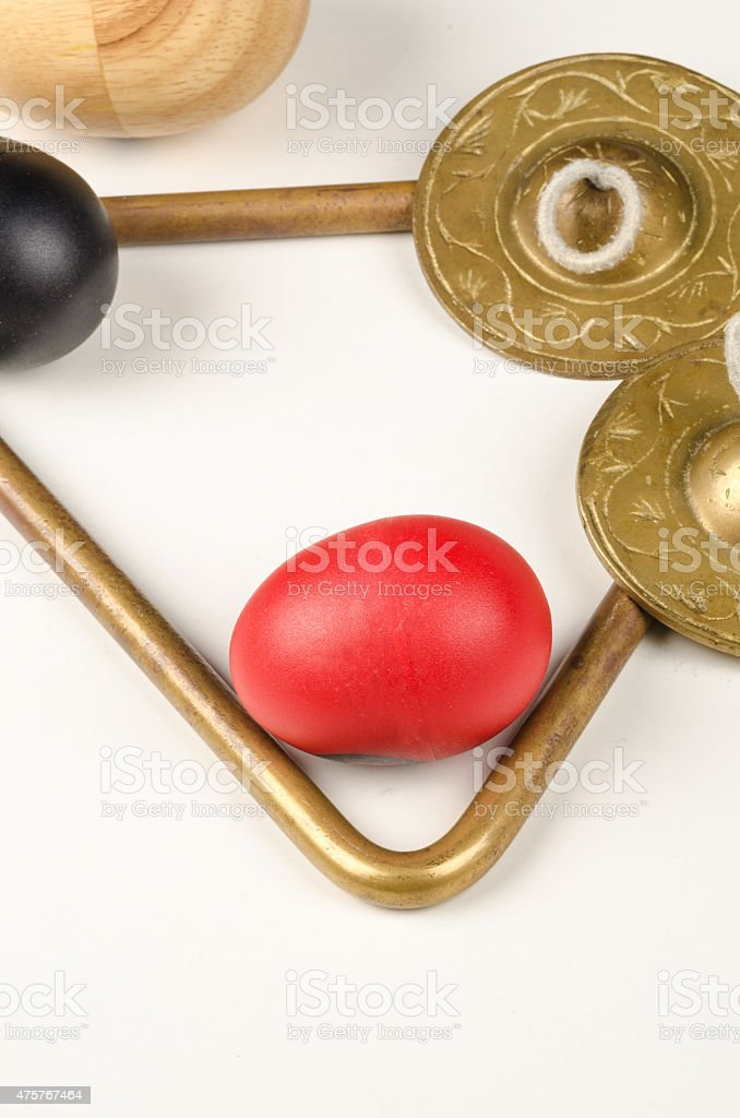Small percussion instruments stock photo