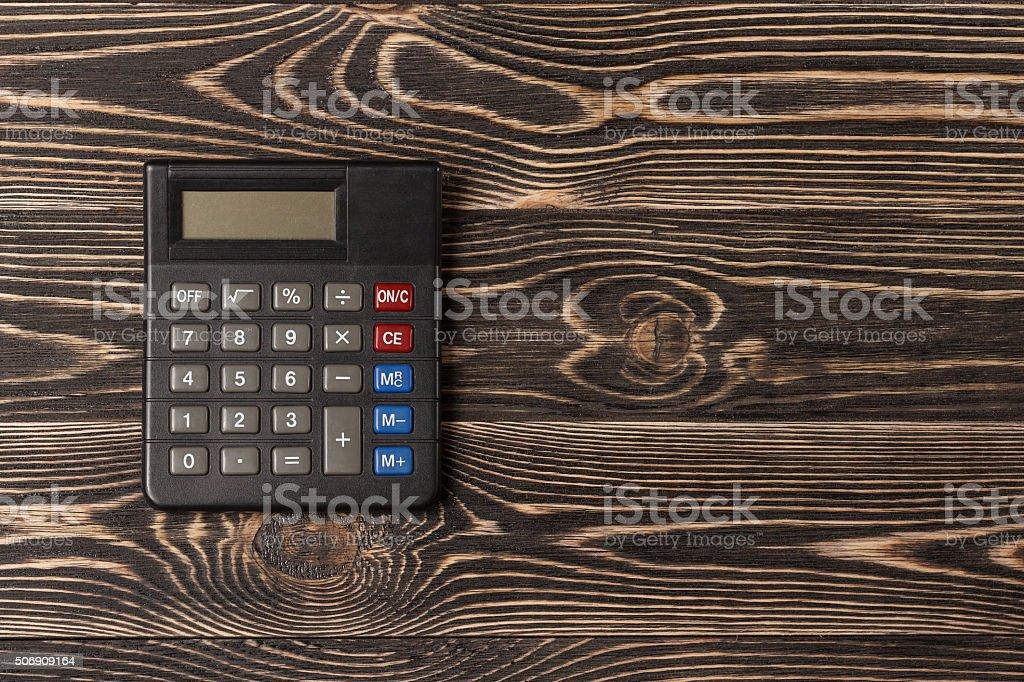 Small personal calculator stock photo