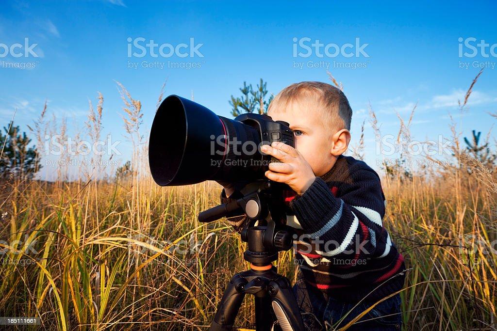 Small Photographer royalty-free stock photo