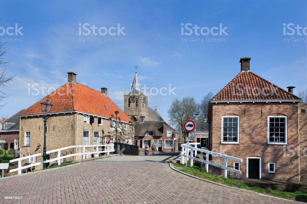 Small picturesque village Linschoten stock photo