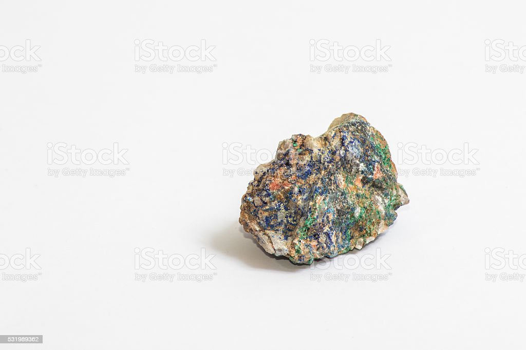 Small piece of Azurite stock photo
