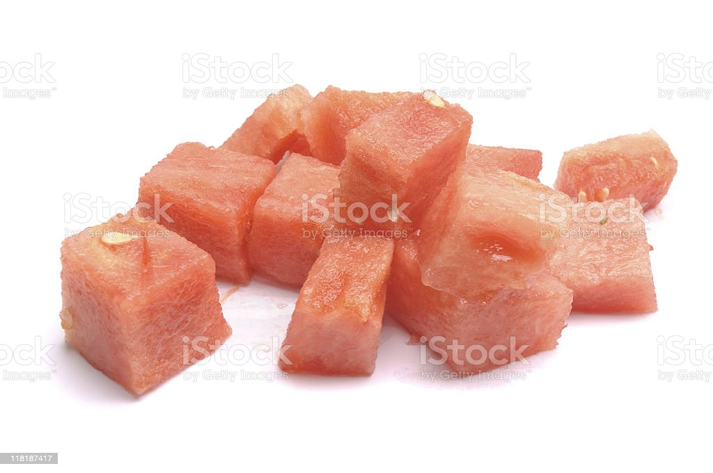Small pieces of watermelon flesh royalty-free stock photo