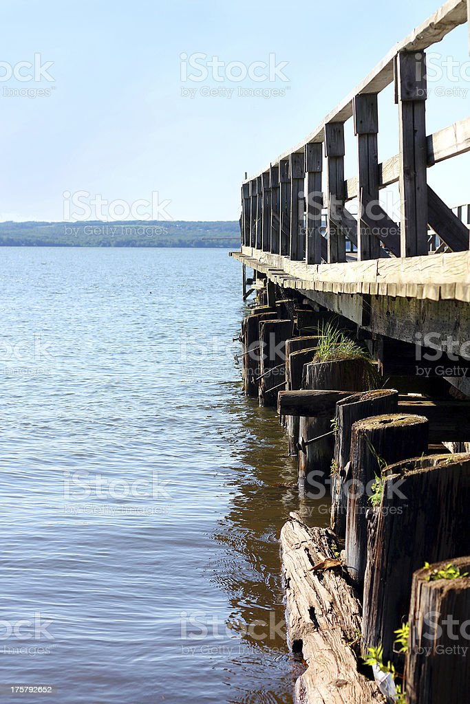 Small Pier on Lake royalty-free stock photo