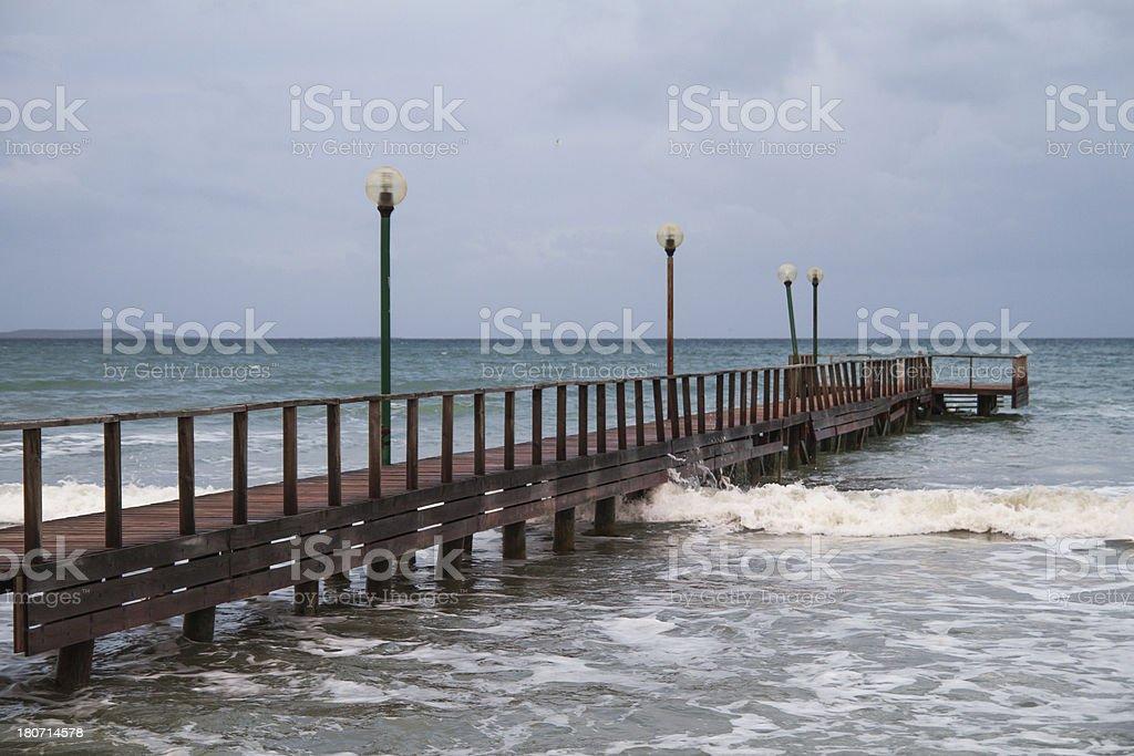 Small pier royalty-free stock photo