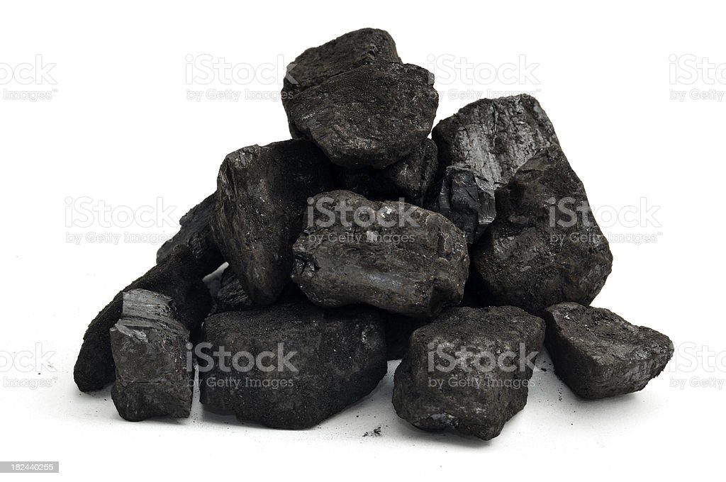 Small Pile of Coal stock photo