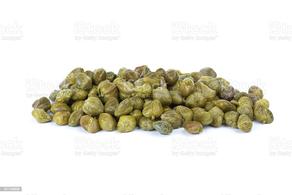 Small pile of marinated capers royalty-free stock photo
