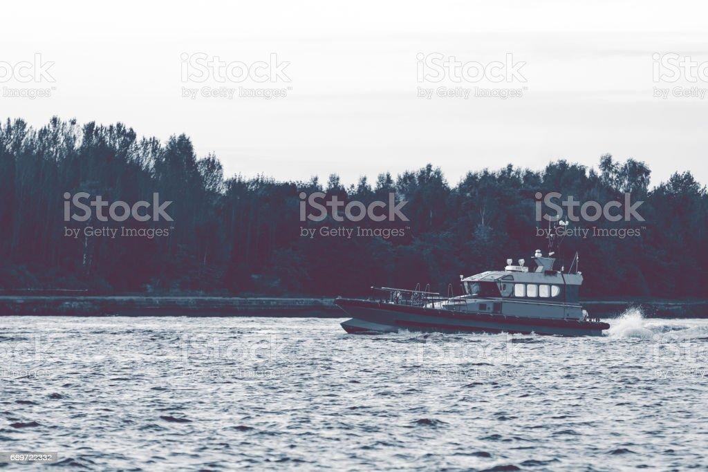 Small pilot ship stock photo