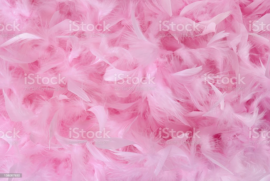 Small pink feathers in pile | Background stock photo