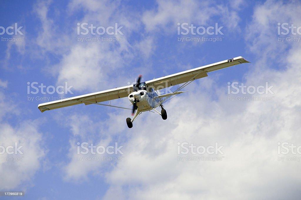 Small Plane Approaching stock photo