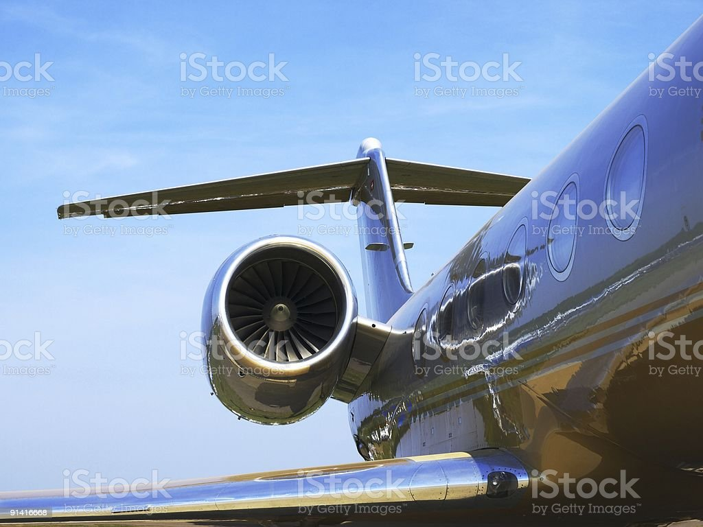 Small plane for business close up stock photo