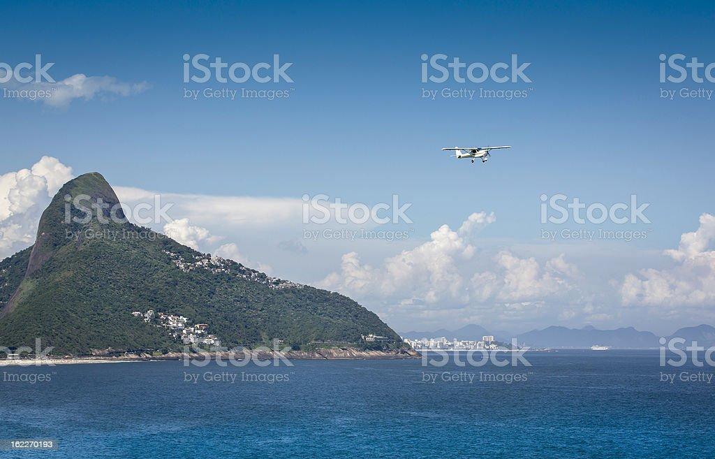 Small plane over Rio De Janeiro royalty-free stock photo