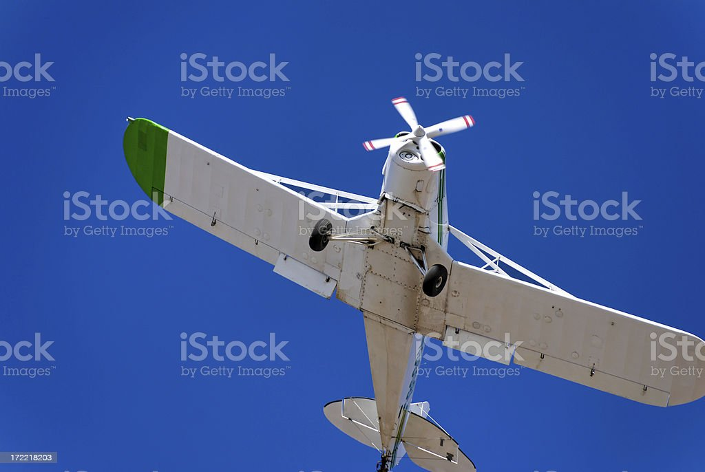 Small Plane soaring royalty-free stock photo