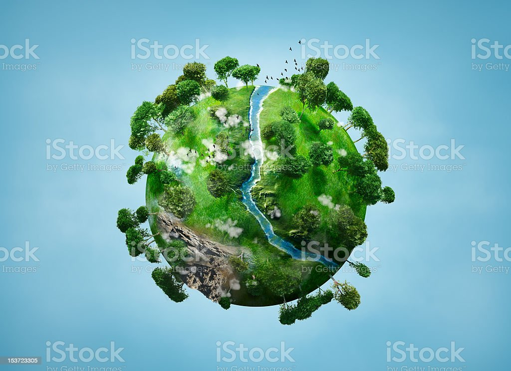 small planet stock photo