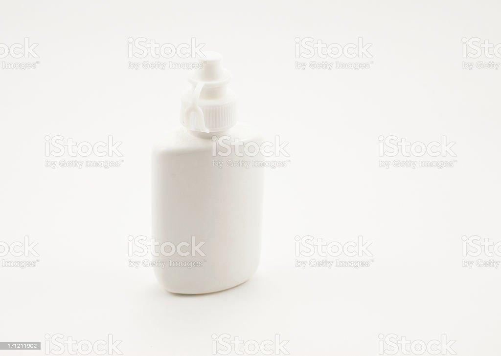 small plastic bottle stock photo