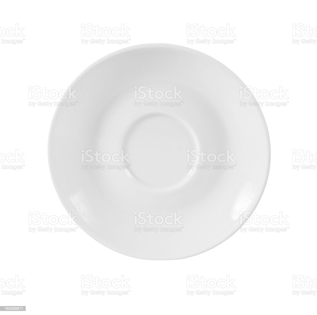 small plate isolated on white with clipping path included stock photo