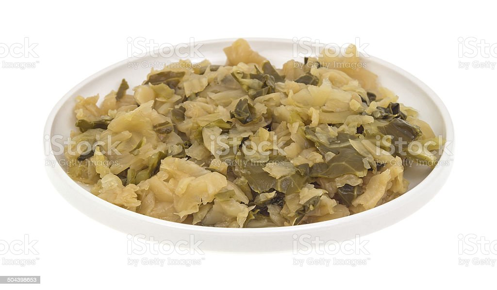 Small plate of cooked cabbage royalty-free stock photo