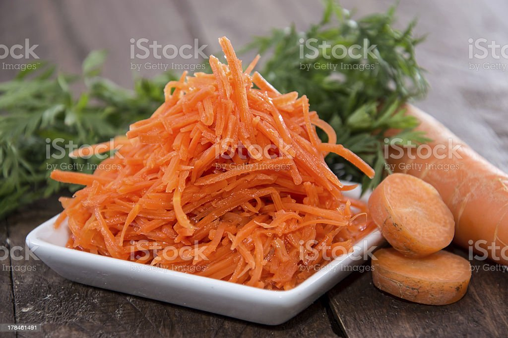 Small Plate with Carrot Salad royalty-free stock photo