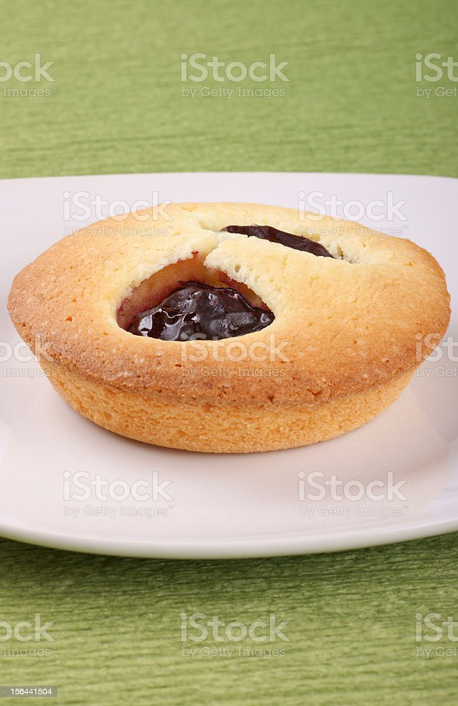 Small plum cake royalty-free stock photo