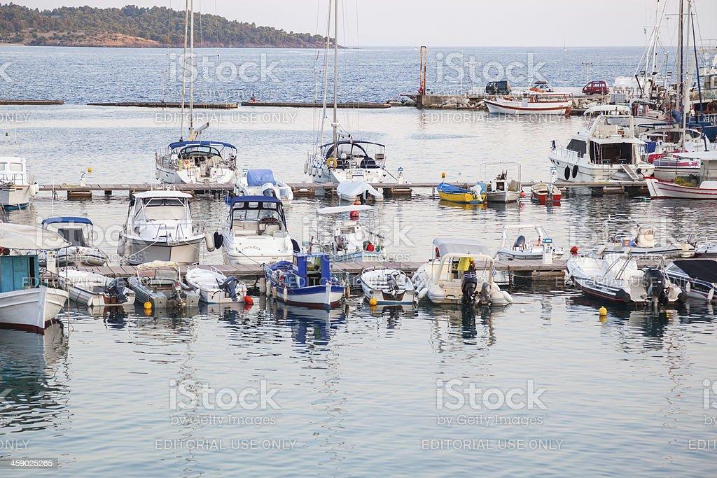 Small port stock photo