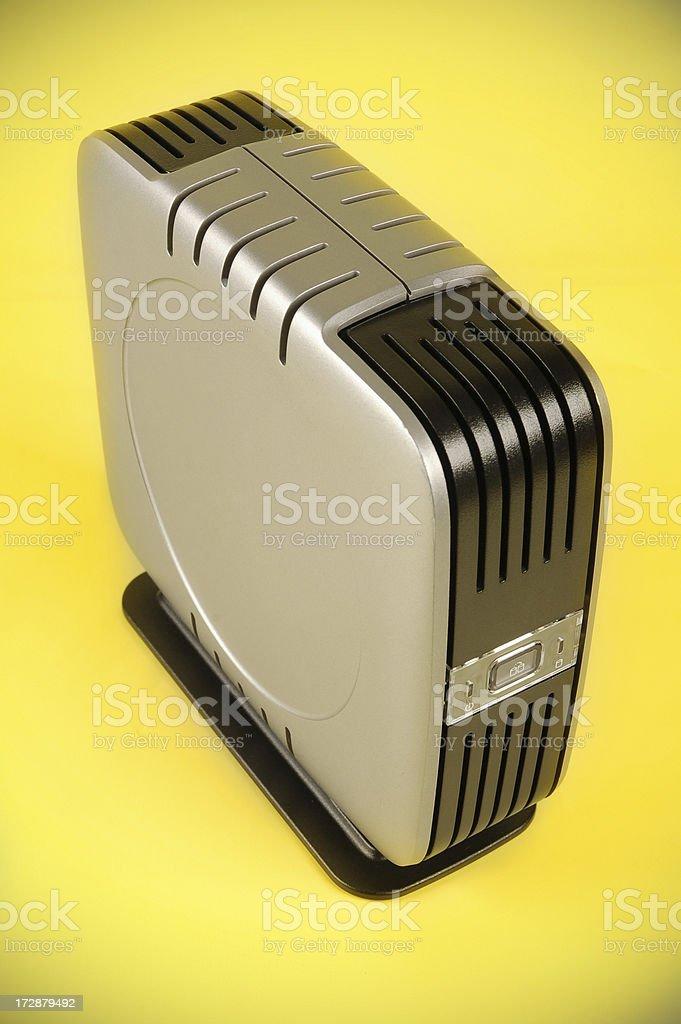 Small Portable Hard Drive stock photo