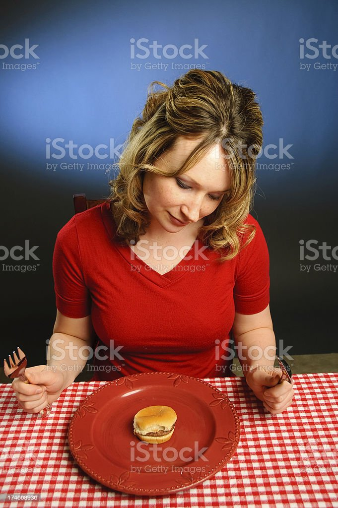 Small portion for a woman stock photo